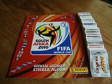 PANINI WORLD CUP SOUTH AFRICA 2010 complet loose Lot de 640 Autocollants + EMPTY ALBUM