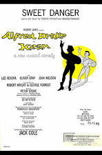"Alfred Drake ""KEAN"" Robert Wright and George Forrest 1961 Broadway Sheet Music"