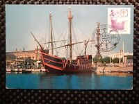 SPAIN MK 1958 SCHIFFE SAILING SHIP MAXIMUMKARTE CARTE MAXIMUM CARD MC CM a7838