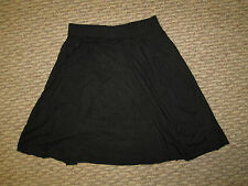 Girls Black Flare Skirt Small 6 8 Medium 10 12  cotton  NWOT