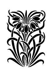 High Detail Art Nouveau Airbrush Stencil - Free UK Postage