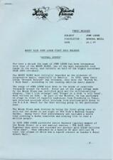 John Lodge Moody Blues Natural Avenue Press Kit 1977