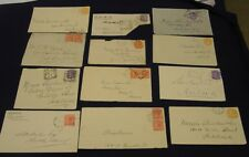 SOUTH AUSTRALIA. 1890s to 1910s. Twelve letter fronts with stamps, var cancels.