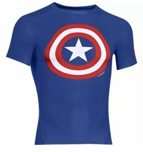 Under Armour Alter Ego HeatGear Marvel Captain America Compression Size 3XL