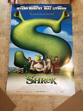 SHREK 2001 Mike Myers Cameron Diaz Double 2 Sided Original Movie Poster 27x40