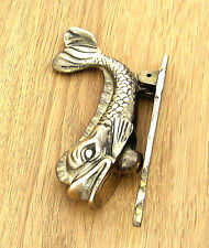 Door Knocker, Small Dolphin Design in Cast Brass, Polished Finish, made in UK