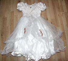 Weißes Kommunions Konfirmations Hochzeit Kleid Kinder Mädchen 152 158 edel #102