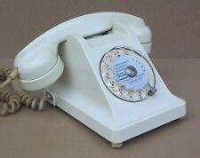 Ancien téléphone à cadran ERICSSON U43 bakélite BLANC vintage déco indus usine