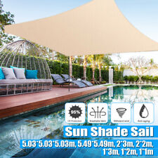 Sun Shade Sail Outdoor Top Canopy Patio Top Cover Triangle Rectangle UV