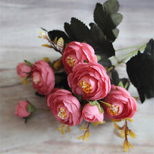Camellia Bouquet Party Home Floral Decor Silk Flowers Wedding Artificial Rose