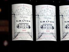 6 bouteilles 2009er château du Graves, Michel Rolland, Paume, vieilles de 30 ans