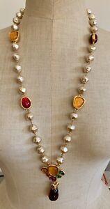 Vintage Emanuel UNGARO Paris Gripoix Pearl Necklace