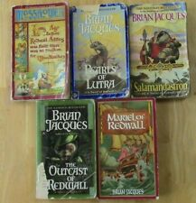 Brian Jacques Paperback PB Book Lot Mossflower, Pearls, Outcast, Salamandastron
