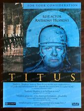 TITUS Rare OSCAR AD Best Actor ANTHONY HOPKINS Large 1999 FYC