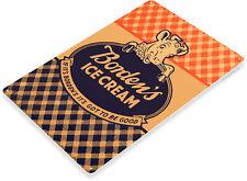 TIN SIGN Borden Ice Cream & Milk Retro Sign Kitchen Farm Cottage Store A019