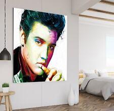 XXL BILD LEINWAND 100x100x5 Elvis Presley POP-ART GEMÄLDE ABSTRAKT IKEA MODERN