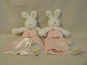 Bunnies By The Bay x 2 BLOSSOM Pink Bunny Rabbit Comforter Blankie with tags