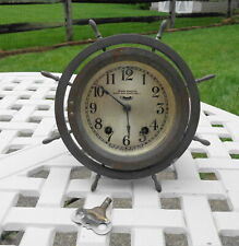 Antique Seth Thomas Seven Jeweled Eight Day Ships Bell Clock for Parts/Repair