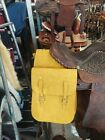 New horse Tack Saddle Bags gun rough out Western hunting Yellow