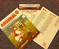 Arsenal v Newcastle United Programme with teamsheet 16/02/2020!!!!