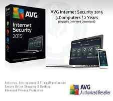 AVG Internet Security 2015 - 3 computer / 2 ANNI PROTEZIONE | Codice di licenza solo