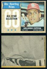 (37049) 1968 Topps 362 Orlando Cepeda All-Star Cardinals-EM