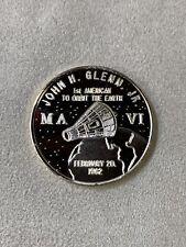 RARE John H. Glenn. JR. Project Mercury 1962 1ST to orbit Earth .999 SILVER COIN