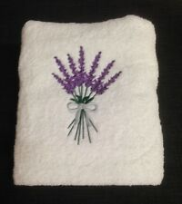 EMBROIDERED  BATH TOWEL  -  LAVENDER