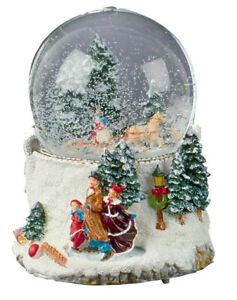 10cm Musical Wind-Up Xmas Waterglobe Indoor Christmas Decoration