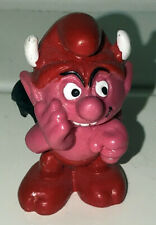 Smurfs Little Devil Smurf 20213 Red Pink Vintage Figure PVC Toy 1984 Figurine