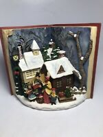 The Franklin Mint Joy To The World Christmas Village Light Up Display Rare New