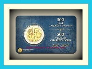 2 EURO BELGIQUE 2021 BU 500 ANS DE PIÈCES CAROLUS V  PREVENTE VERSION NL