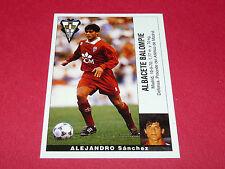 ALEJANDRO SANCHEZ FUTBOL ALBACETE PANINI LIGA 95-96 ESPANA 1995-1996 FOOTBALL