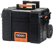 RIDGID Large Rolling Toolbox on Wheels Travel Storage Chest Cart Professional