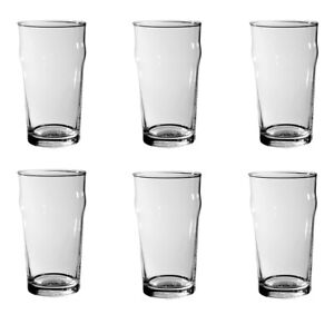 6x Nonic Pint Beer Glass 570ml - Certified Capacity - Commercial Hospitality