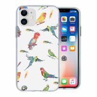 For Apple iPhone 11 Silicone Case Tropical Birds - S1341
