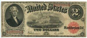 Large Size 1917 $2 Legal Tender Note, Fr. 60 Speelman White