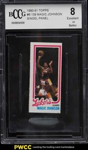1980 Topps Basketball Single Panel Magic Johnson ROOKIE RC BCCG 8