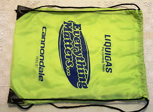 Liquigas Cannondale Everything Matters light weight Drawstring Back Pack Green