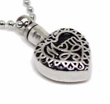 """2 Sets of """"Mom in Heart"""" Cremation Urn Necklace Urn Pendant Ash Holder Memorial"""