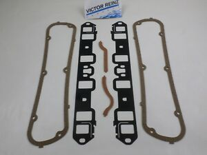 Victor Intake Manifold & Valve Cover Gaskets for 62-76 SBF Ford 221 260 289 302