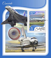 Solomon Islands Aviation Stamps 2017 MNH Concorde British Airways 1v S/S