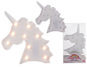 Stylish White Glossy Unicorn With 10 Warm White LED Lights 26 x 22 cm