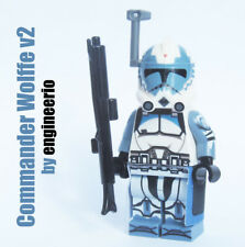 Custom Star Wars Commander Wolffe minifigures clone trooper wolf pack lego brick