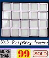 20 Stück 3x3 cm Großhandel Edelstein Display Kunststoff Aufbewahrungsbox Gems