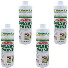 4 BOTTLES Lawnlift Ultra Concentrated Water Based Green Grass Paint 16 fl Each