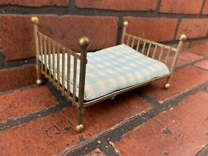 Vintage Dollhouse Brass Bed