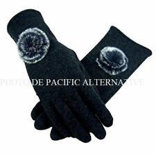 Gants NOIR pour FEMME compatible ecran smartphone tactile black glove woman NEUF