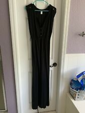 Old Navy Pregnancy Maternity Black Stretchy Comfortable Maxi Long Dress NWOT XL