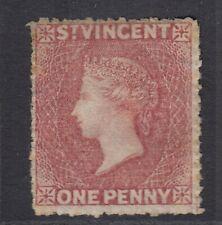 ST. VINCENT QV 1861 One Penny Rose-Red  SG1 - mint no gum